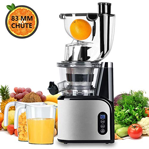 Aobosi Extracteur de Jus Vertical Slow Juicer 80mm Large Bouche Extracteur
